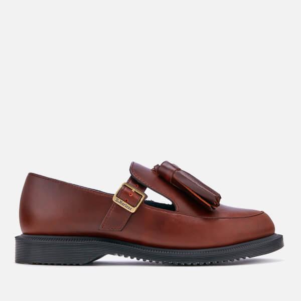 Dr. Martens Women's Gracia Brando Leather Tassel Flats - Oxblood - UK 3 NyoqkB4