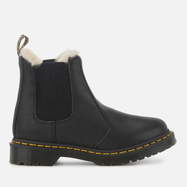 a0bb607e46c Dr. Martens Women's 2976 Leonore Faux Fur Lined Chelsea Boots - Black:  Image 1