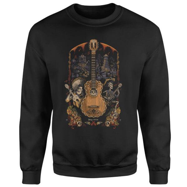 Coco Guitar Poster Sweatshirt - Black