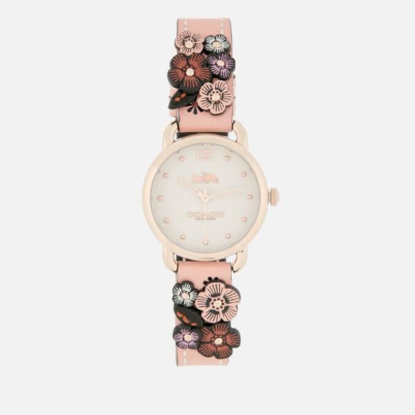 Coach Women's Delancey Floral Applique Watch - Pink