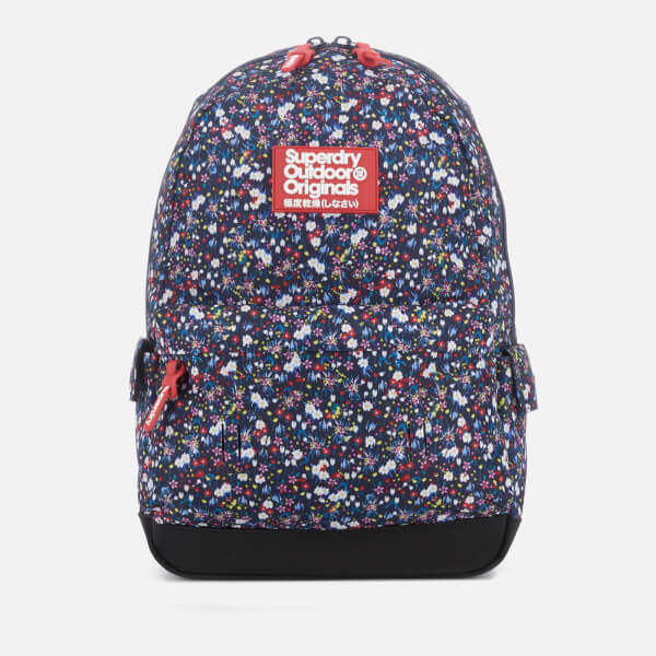 d18f53476a Superdry Women s Print Edition Montana Backpack - Navy Pop Ditsy  Image 1