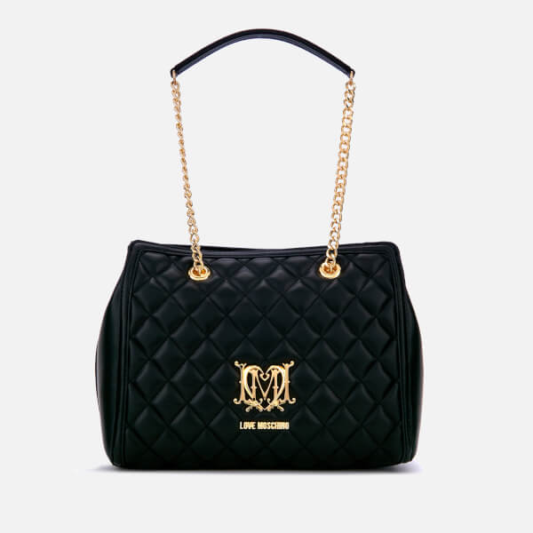 bfb264380b Love Moschino Women's Quilted Medium Tote Bag - Black: Image 1