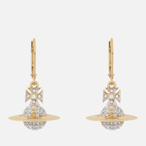 Vivienne Westwood Women's Lena Orb Earrings - Rhodium/Gold