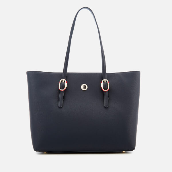 4f3f46ad25 Tommy Hilfiger Women's Buckle Tote Bag - Navy: Image 1