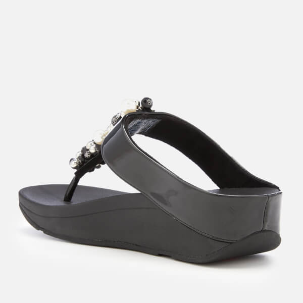 edcf96fc305e3c FitFlop Women s Deco Toe Post Sandals - Black Womens Footwear ...