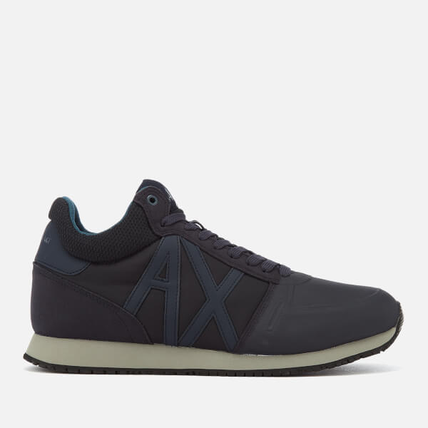 Armani Exchange Men's Mid Cut Running Style Trainers - Navy/India Ink
