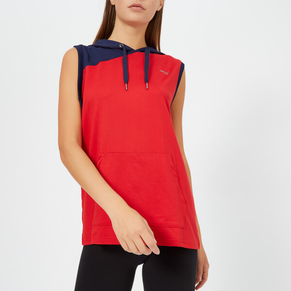Puma Women's A.C.E Sleeveless Hoodie - Ribbon Red-Peacoat