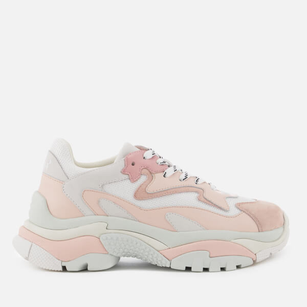 Ash Women's Addict Chunky Runner Style Trainers   White/Blush by All Sole