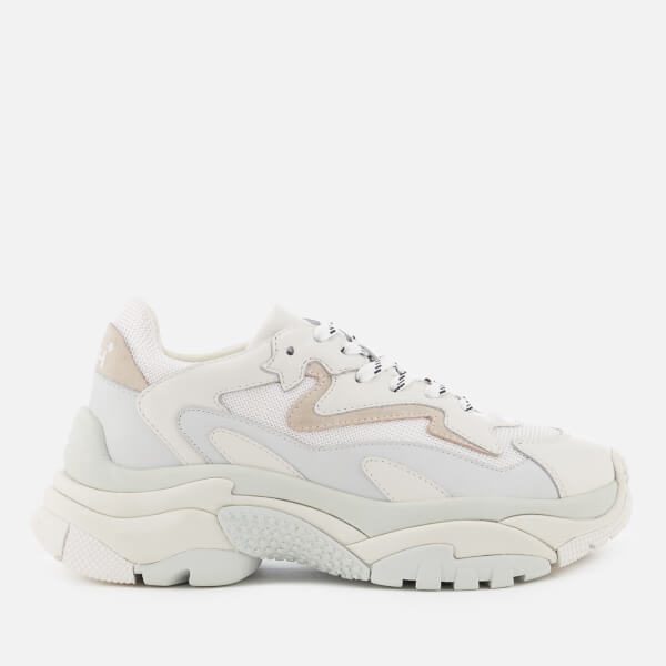 Ash Women's Addict Chunky Runner Style Trainers - White/Off White
