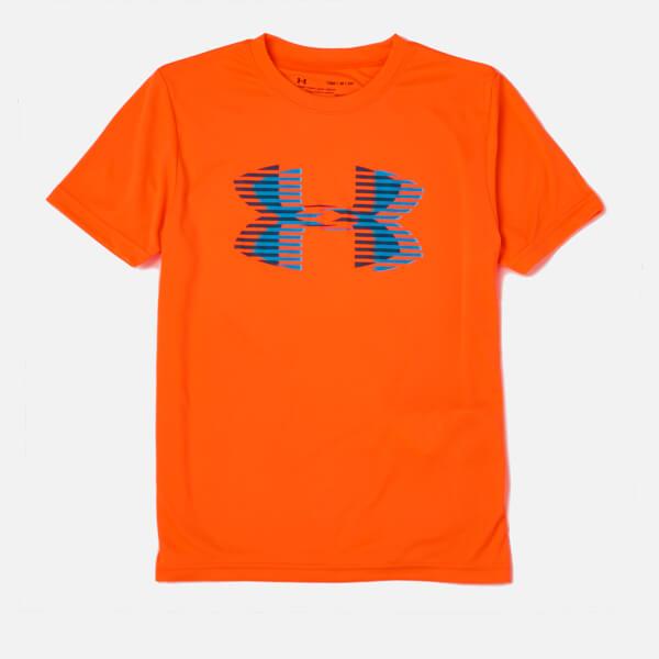 Under Armour Boys' Tech Big Logo Solid T-Shirt - Magma Orange