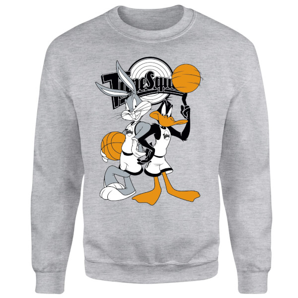 Space Jam Bugs And Daffy Time Squad Sweatshirt - Grey