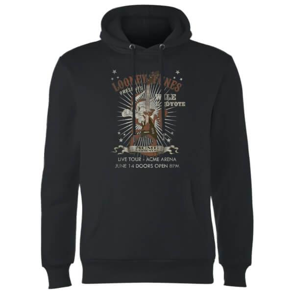 Looney Tunes Wile E Coyote Guitar Arena Tour Hoodie - Black