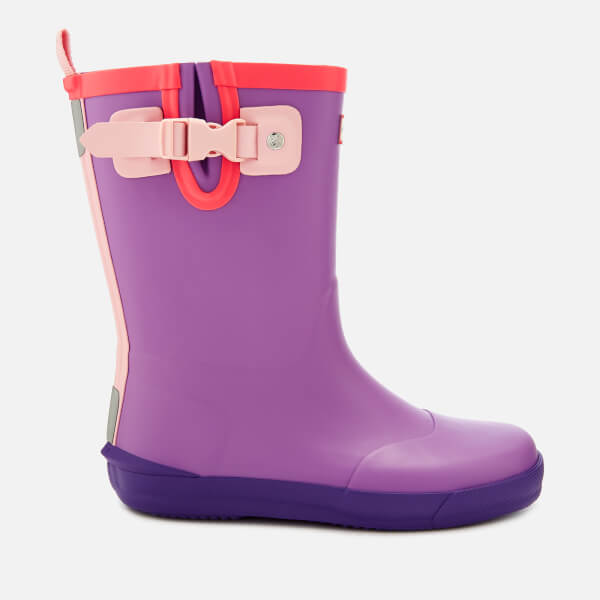 Hunter Kids' Davison Wellies - Thistle/Mist Pink/Acid Purple