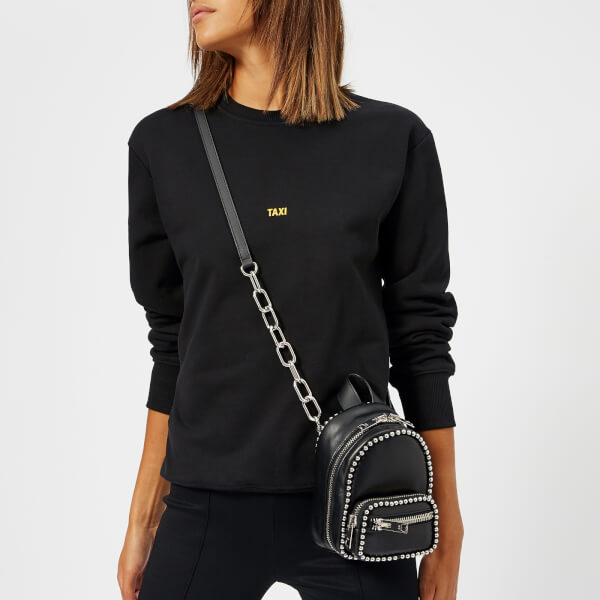 c9563d06903d6 Alexander Wang Women s Attica Soft Mini Cross Body Backpack with Ballchain  - Black  Image 3