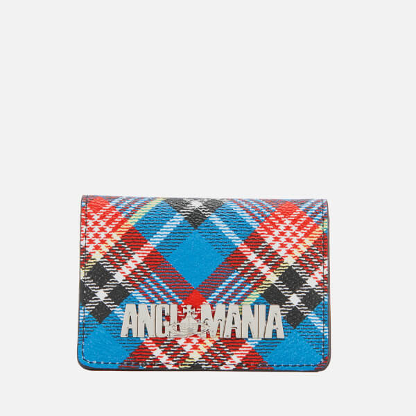 Vivienne Westwood Anglomania Women's Shuka Tartan Small Credit Card Holder - Blue