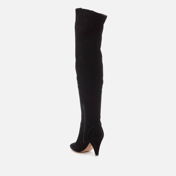 e6a963a2679f Kurt Geiger London Women s Violet Suede Thigh High Heeled Boots - Black   Image 3