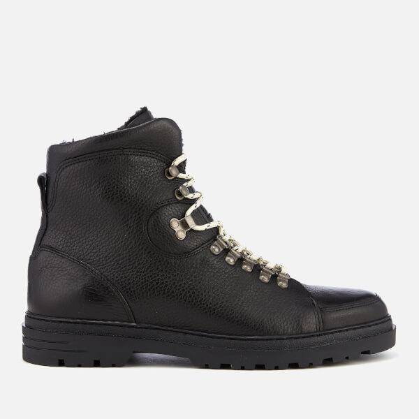 0198fecf72b Kurt Geiger London Men s Amber Leather Hiker Style Boots - Black  Image 1