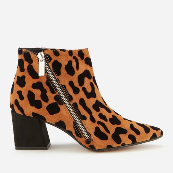 Carvela Women's Signet Leather Heeled Ankle Boots - Black/Comb