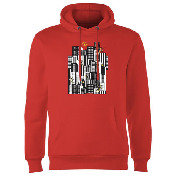 The Incredibles 2 Skyline Hoodie - Red