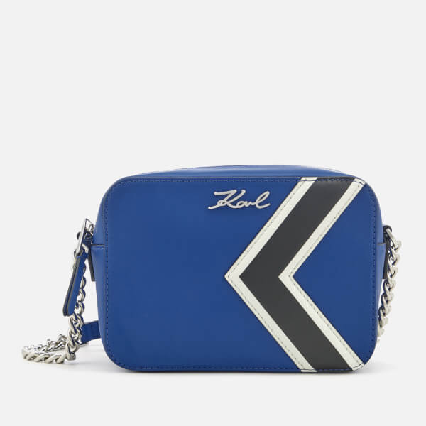 Karl Lagerfeld Womens KStripes Bag Blue