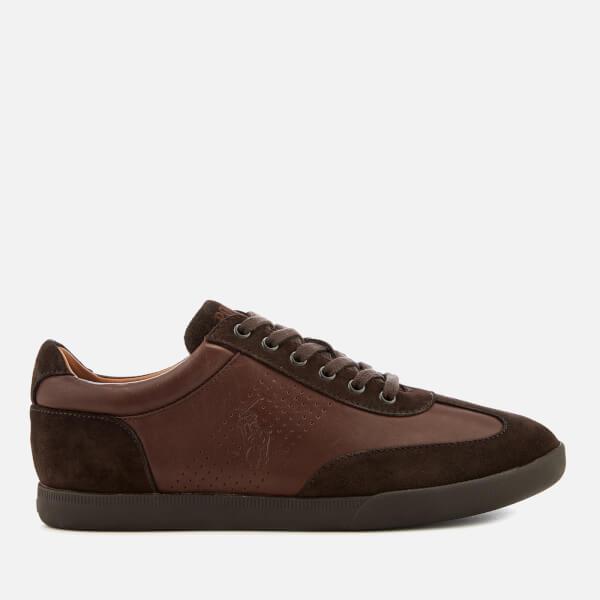 fdb857935dda Polo Ralph Lauren Men s Cadoc Leather Athletic Trainers - Dark Brown  Image  1