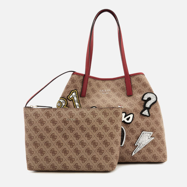 ab27054800d Guess Women s Vikky Large Tote Bag - Brown Multi  Image 6