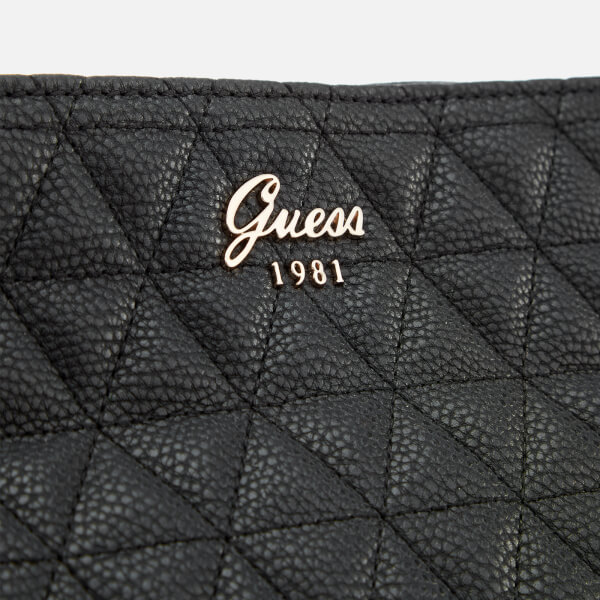 378de7f7e5 Guess Women s Fleur Large Tote Bag - Black  Image 4