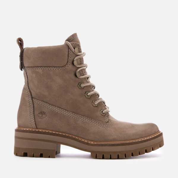 32882f438c82 Timberland Women s Courmayeur Valley Leather Lace Up Boots - Taupe Grey   Image 1