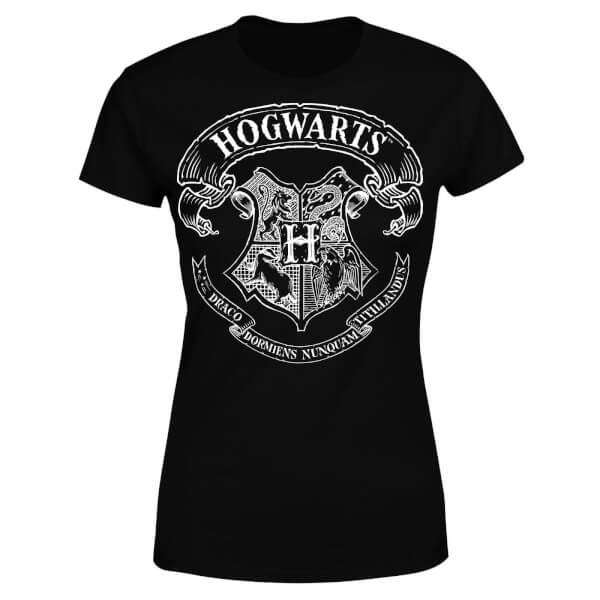Harry Potter Hogwarts Crest Women's T-Shirt - Black