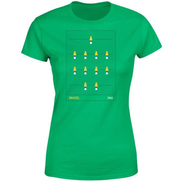 Brazil Fooseball Women's T-Shirt - Kelly Green