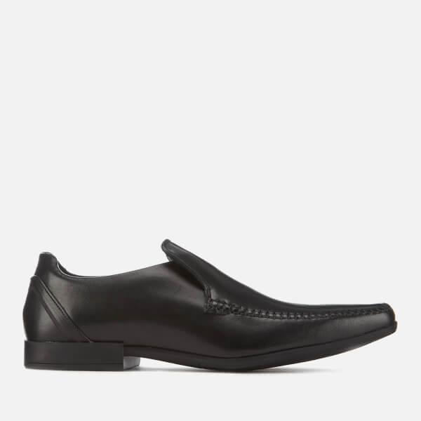 Clarks Men's Glement Seam Leather Slip-On Shoes - Black
