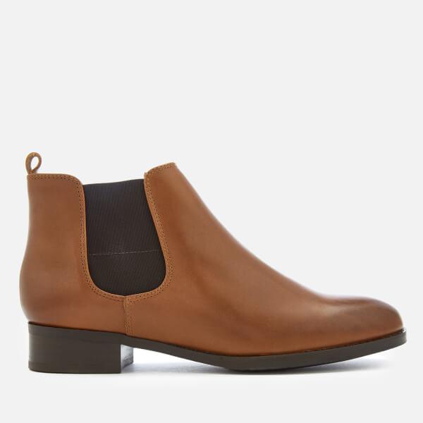 Clarks Women's Netley Ella Leather Chelsea Boots - Tan