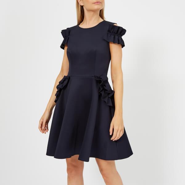 Ted Baker Women\'s Deneese Ruffle Detail Dress - Navy Womens Clothing ...