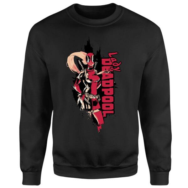 Marvel Deadpool Lady Deadpool Sweatshirt - Black