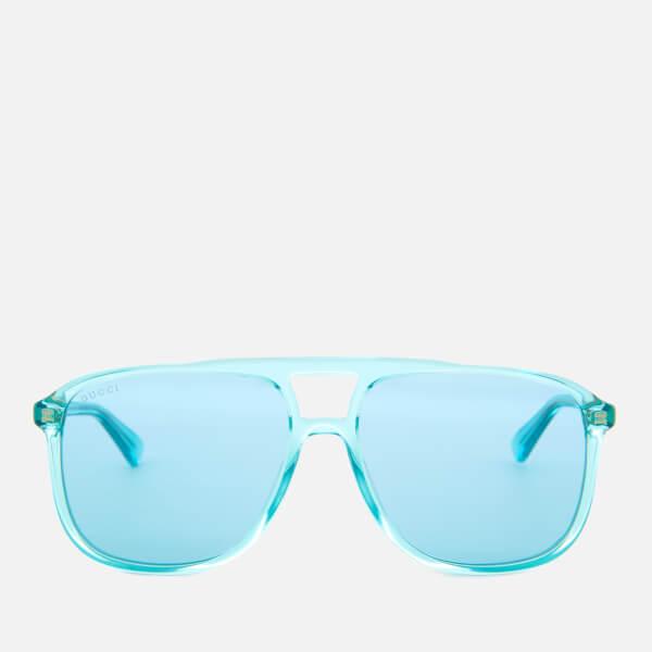 Gucci Men's Acetate Blue Frame Sunglasses - Light Blue