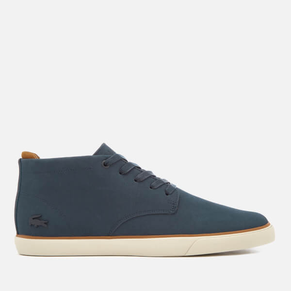 2bf50ebd9 Lacoste Men s Esparre Chukka 318 1 Leather Suede Derby Chukka Boots - Navy  Brown