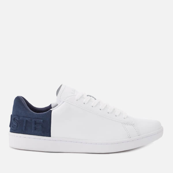 2b6fbf1ac0910b Lacoste Women s Carnaby Evo 318 3 Leather Suede Trainers - White Navy  Image