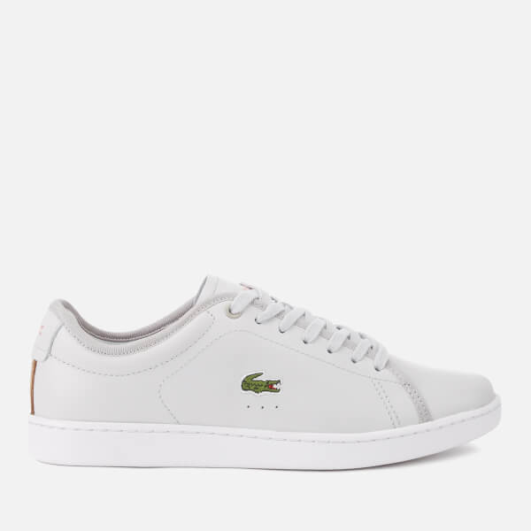 1df637c1be67be Lacoste Women s Carnaby Evo 318 6 Leather Trainers - Light Grey White   Image 1