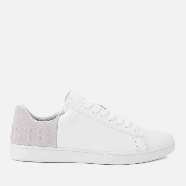ce0f5b032d20c0 Lacoste Women s Carnaby Evo 318 3 Leather Suede Trainers - White Light Grey