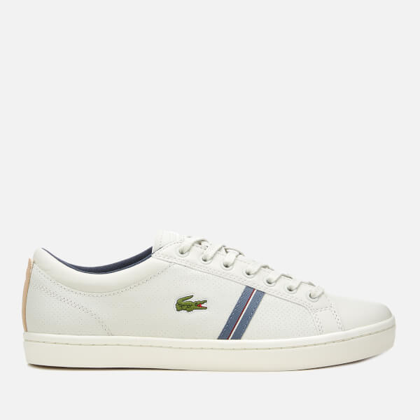 fbd0e2378aa8 Lacoste Men s Straightset Sport 318 1 Leather Trainers - Off White Natural   Image 1