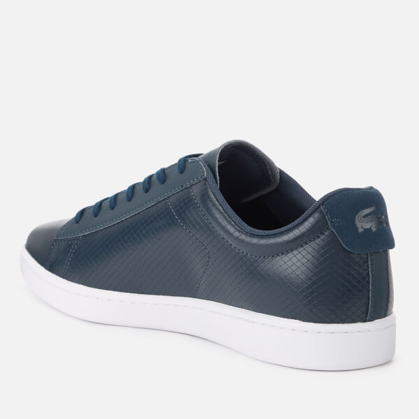c29bd01edbe8a Lacoste Men s Carnaby Evo 318 7 Croc Leather Trainers - Navy Mens ...