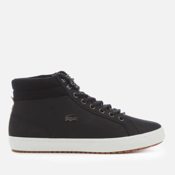 3a51222fc Lacoste Men s Straightset Insulate C 318 1 Water Resistant Leather Boots -  Black Black