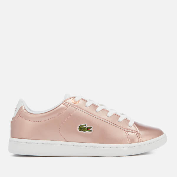 Lacoste Kids' Carnaby Evo 318 2 Trainers - Pink/White