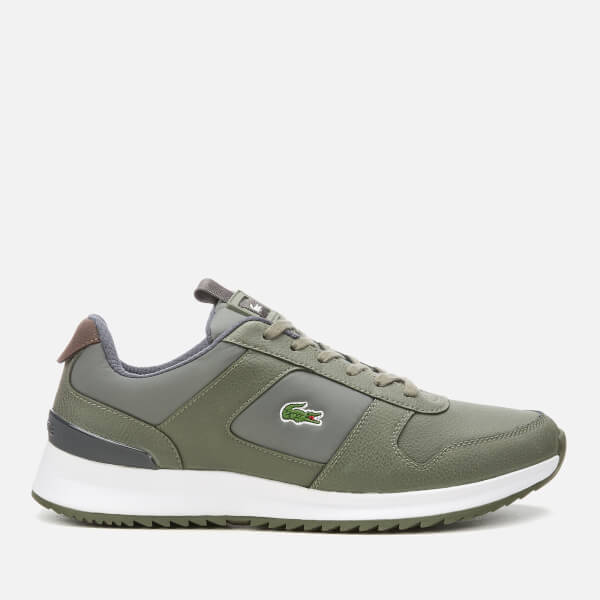 738a1a129eb72 Lacoste Men s Joggeur 2.0 318 1 Textile Leather Runner Style Trainers -  Khaki Dark Grey