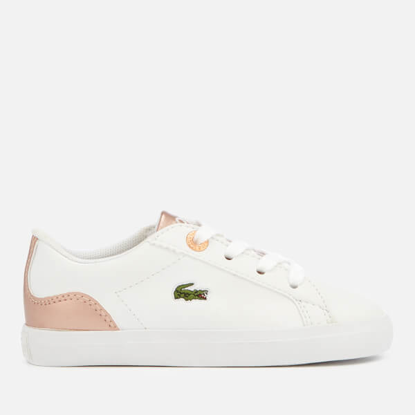 790f8fc850d7 Lacoste Toddler s Lerond 318 3 Trainers - White Pink  Image 1