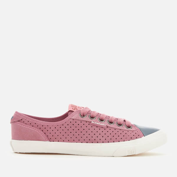 Superdry Women's Low Pro Luxe Trainers - Misty Rose