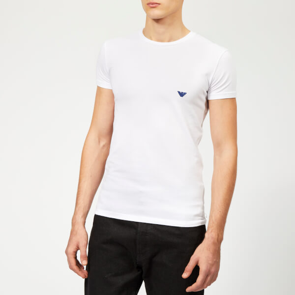Emporio Armani Men's Small Logo Crew Neck T-Shirt - White