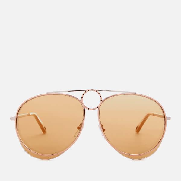 Chloe Women's Romie Aviator Style Sunglasses - Silver/Copper