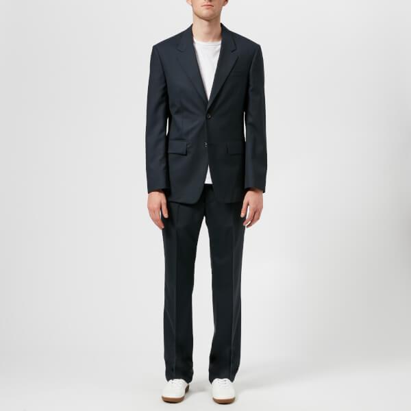 Maison Margiela Men's Two Ply Wool Popeline Suit - Dark Blu