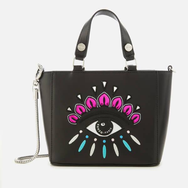 Kenzo Women S Eye Embroidery Tote Bag Black Image 1